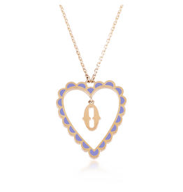 Calliope Alphabet Heart Necklace Letter O in Lilac