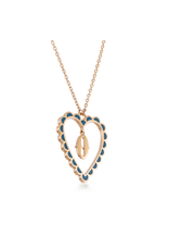 Calliope Alphabet Heart Necklace Letter O in Tosca