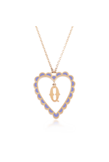 Calliope Alphabet  Heart Necklace Letter Q  in Lilac