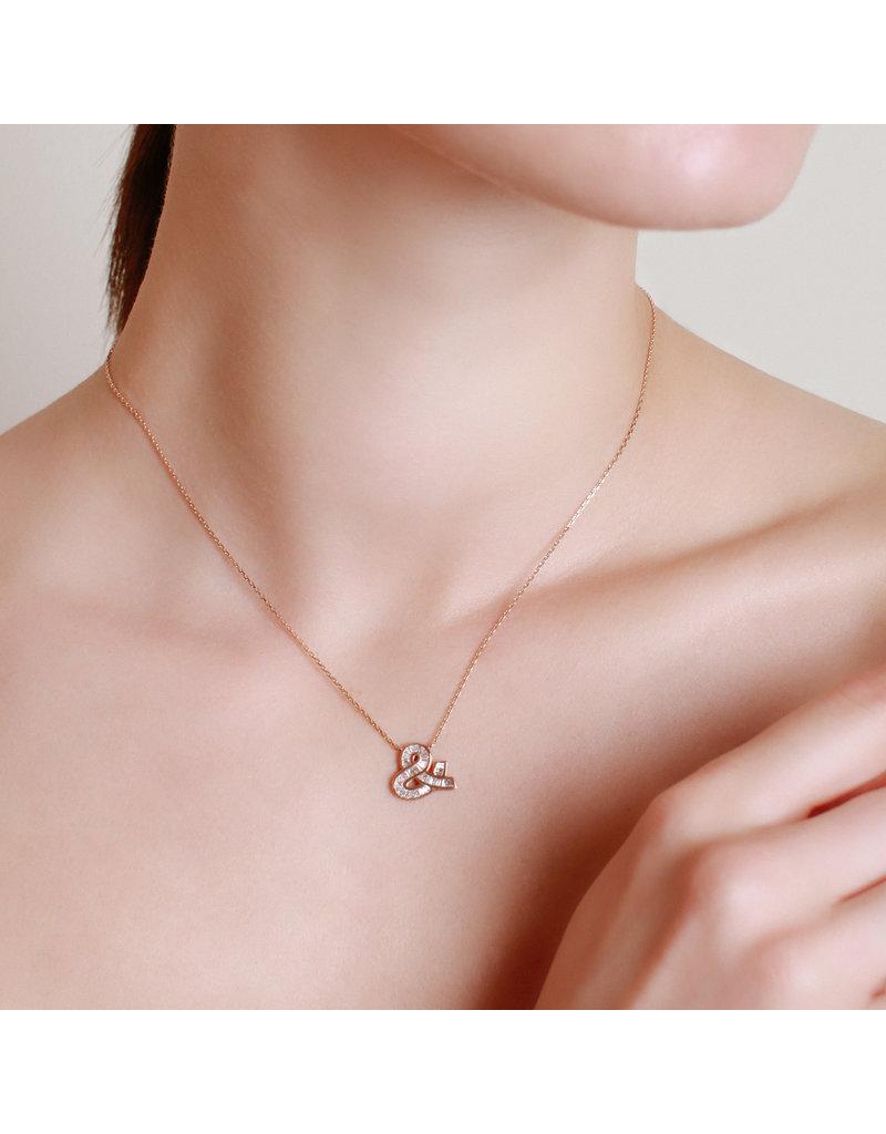 Spell My Love Pendant & Shape Rose gold