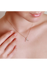 Spell My Love Pendant Letter A Yellow Gold