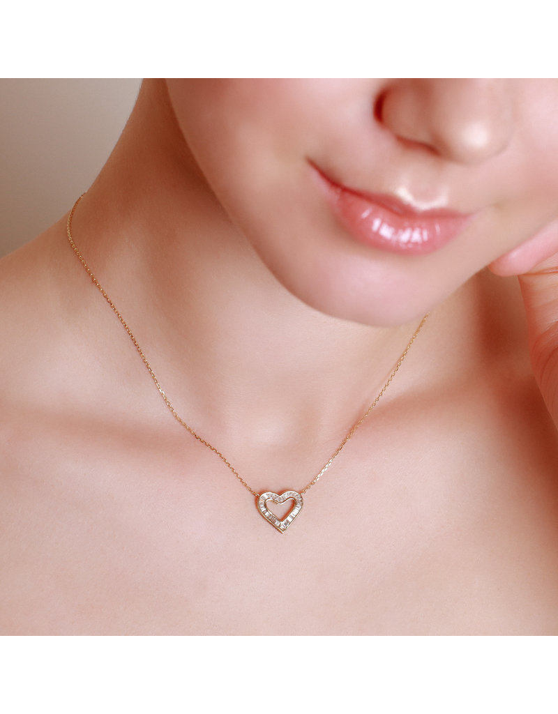Spell My Love Pendant Heart Shape Yellow Gold