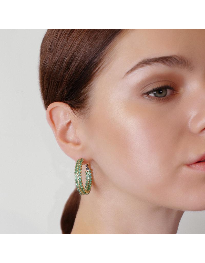 Shanhan Chevron Earrings in Bonsai