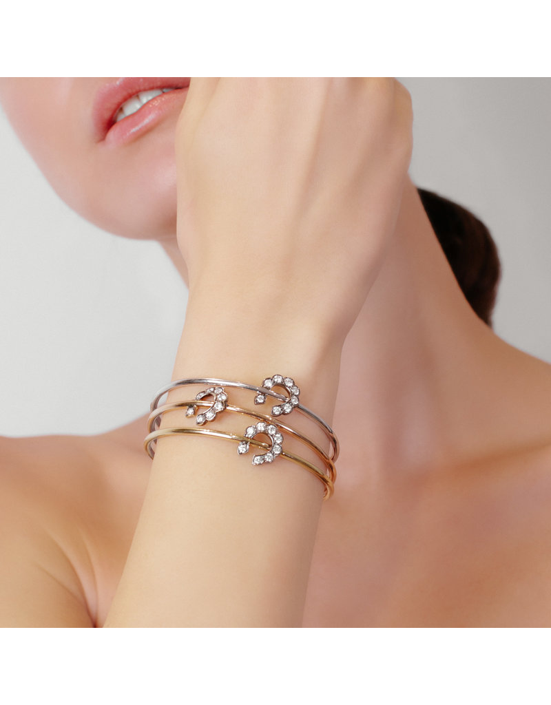 Luck At First Sight Bangle-White Gold
