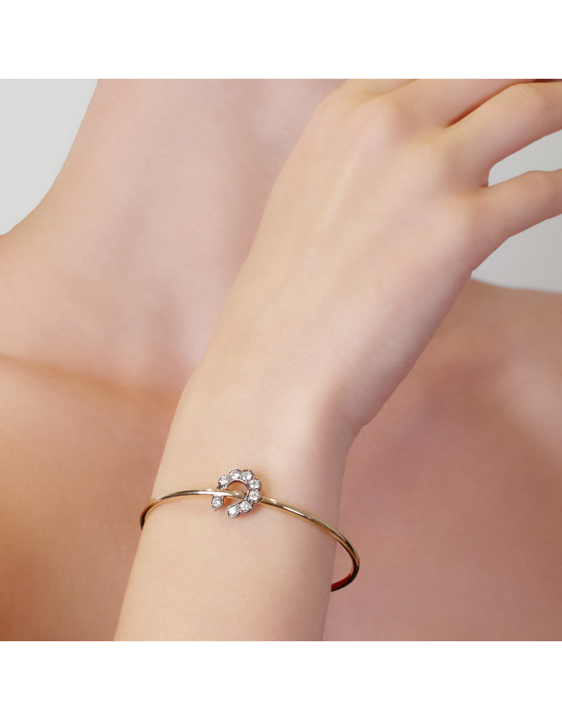 Luck At First Sight Bangle-Yellow Gold