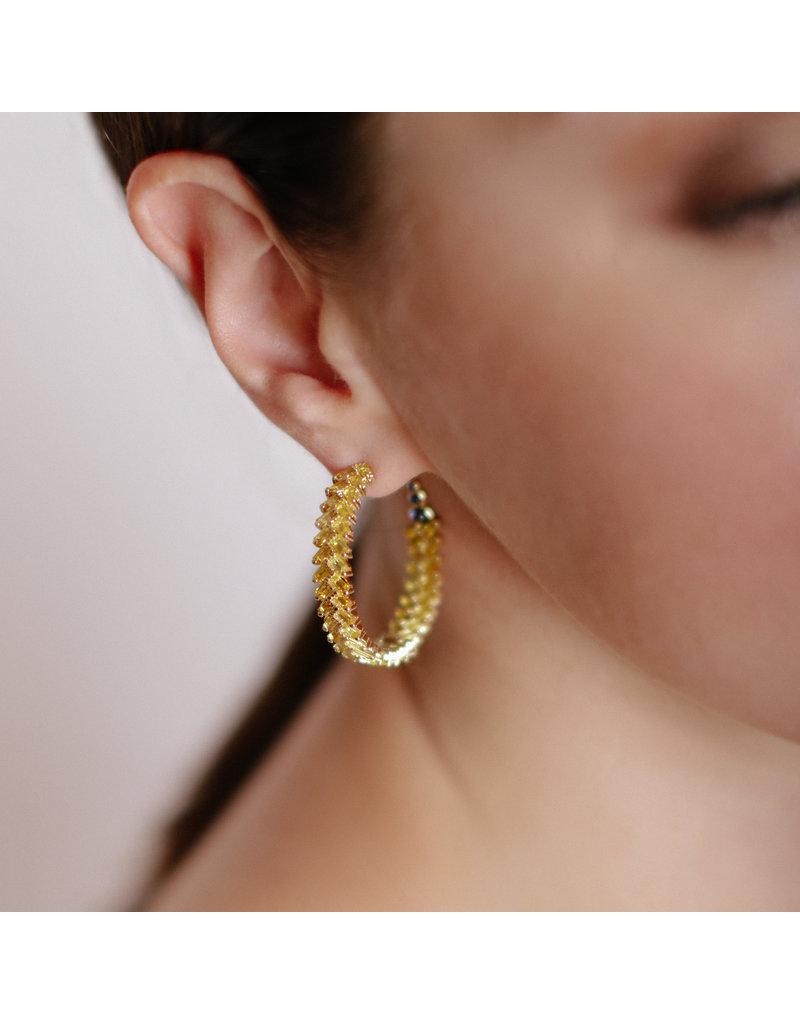 Shanhan Chevron Earrings in Cherry Blossom