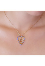 Calliope Alphabet  Heart Necklace Letter T  in Lilac
