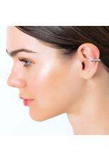 Calliope Adagio PM Ear Cuff in White Gold Black Rhodium