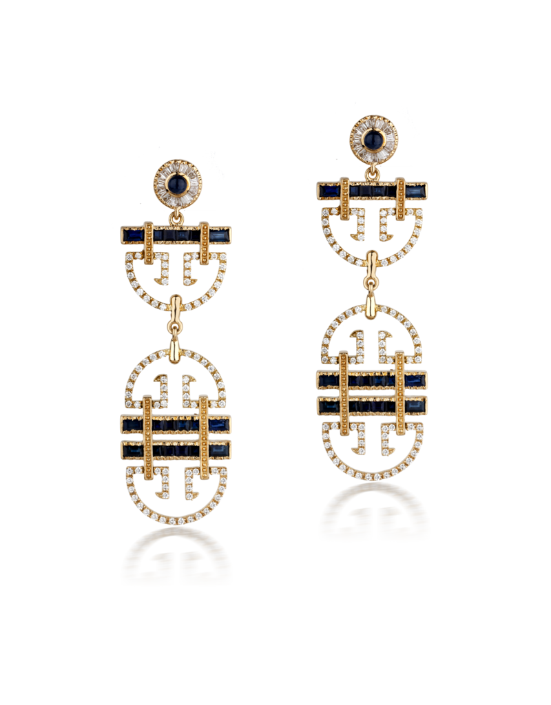 Shanhan String Dancer Long Earrings Peacock