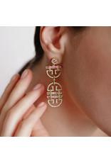 Shanhan String Dancer Long Earrings Cherry Blossom