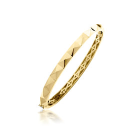 Calliope Carnival Bangle in Full Yellow Gold