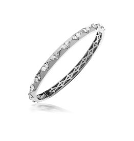 Calliope Carnival Bangle in White Gold with Trillion Diamonds
