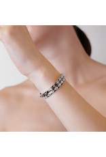 Calliope Carnival Bangle White Gold in Hopping Ebony Pave