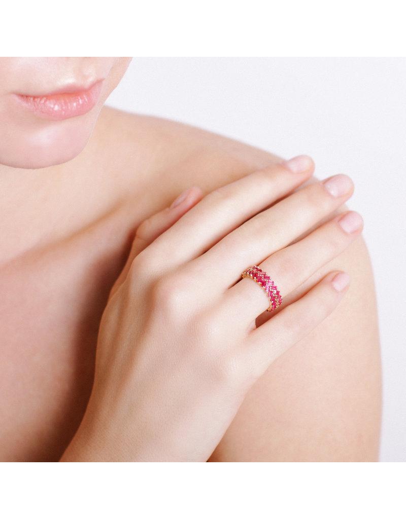 Shanhan Chevron Ring Red Lantern