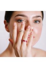 Shanhan Chevron Ring In Cherry Blossom