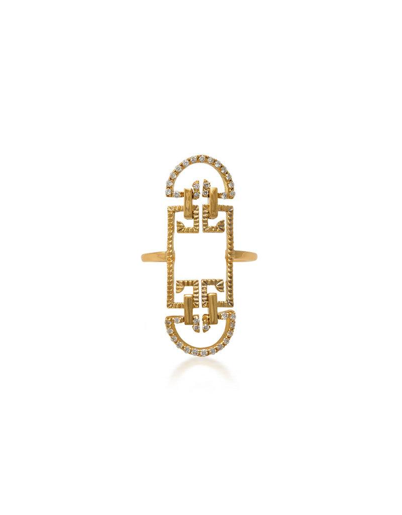 Shanhan String Dancer Temple Ring Diamonds