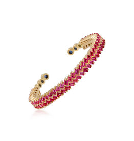 Shanhan Chevron Bangle in Red Lantern