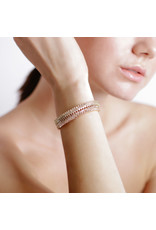 Shanhan Chevron Bangle With Diamonds in Rose Gold