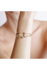 Shanhan Moon Joyful Bangle Yellow Gold in Peacock
