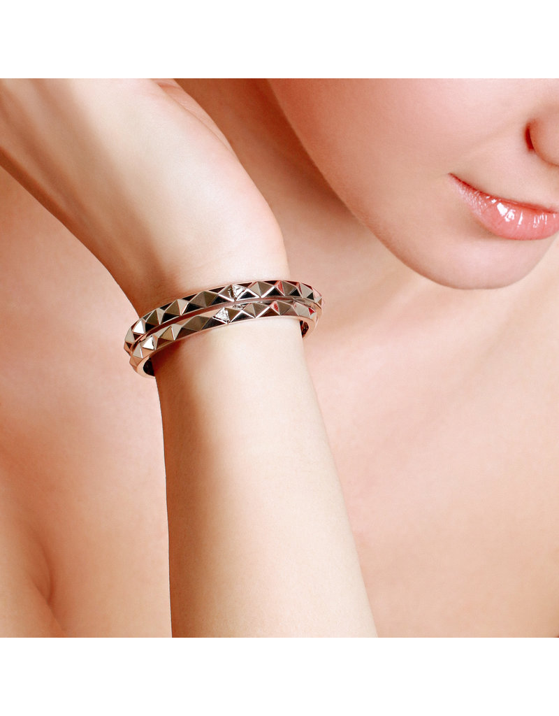 Calliope Carnival Bangle  White Gold in Ebony