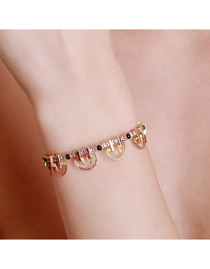 Shanhan String Dancer Bangle in Cherry Blossom Without Diamonds