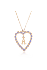 Calliope Alphabet Heart Necklace in Letter A