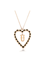 Calliope Alphabet Heart Necklace in Letter U