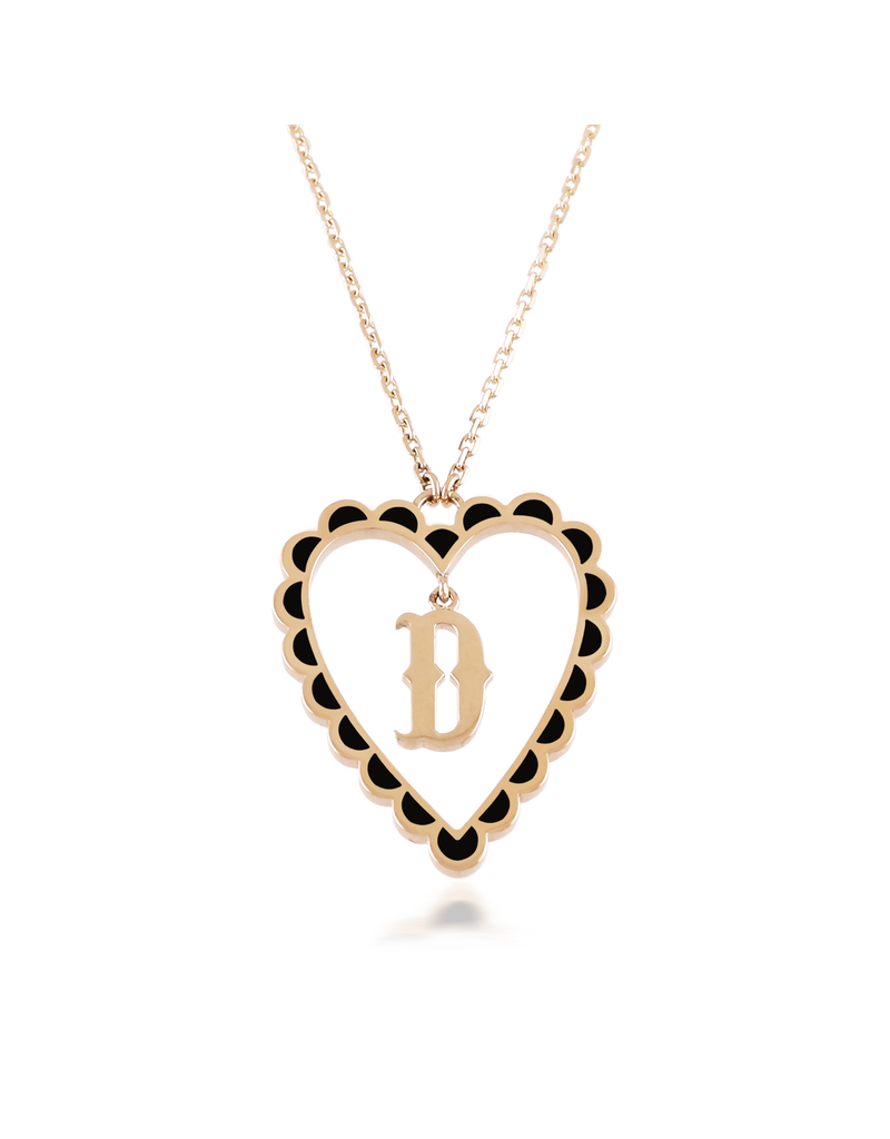 Calliope Alphabet  Heart Necklace In Letter D