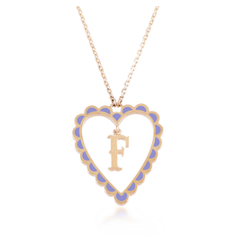 Calliope Alphabet  Heart  Necklace In Letter F
