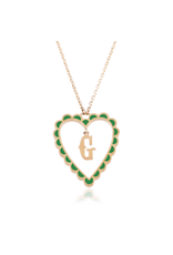 Calliope Alphabet Heart Necklace In  Letter G