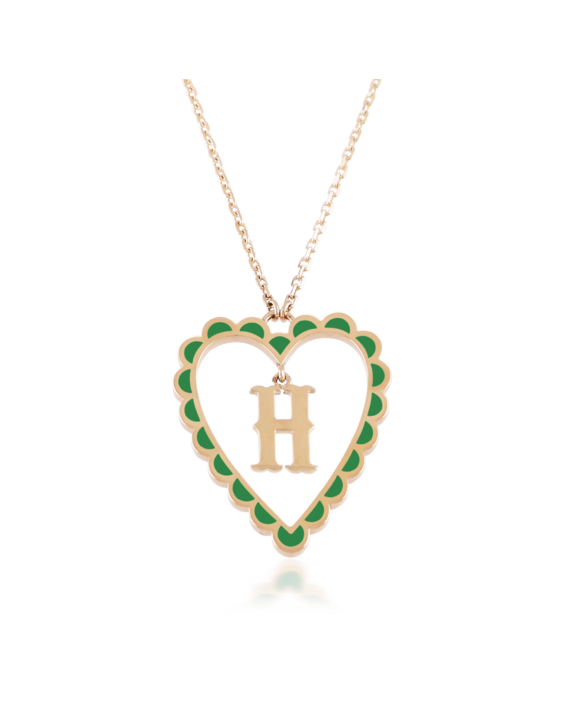 Calliope Alphabet Heart Necklace In Letter H