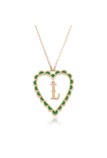 Calliope Alphabet Heart Necklace In Letter L
