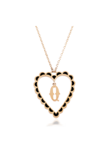 Calliope Alphabet Heart Necklace In Letter Q