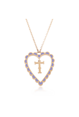 Calliope Alphabet Heart Necklace In Letter T