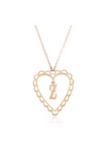 Calliope Alphabet Heart Necklace In Letter Z