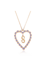 Calliope Alphabet Heart Necklace In Letter S