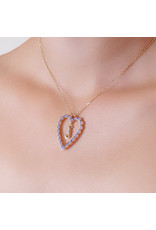 Calliope Alphabet Heart Necklace In Letter J