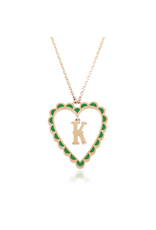 Calliope Alphabet Heart Necklace In Letter K