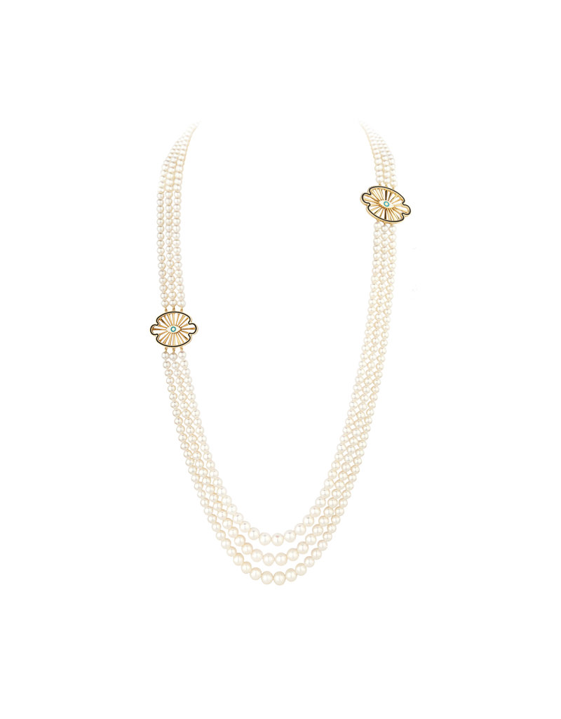 Calliope 3-Strand  Pearl Necklace