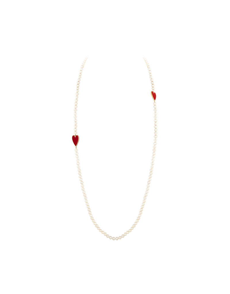 Calliope Heart Marreyah Pearl Necklace