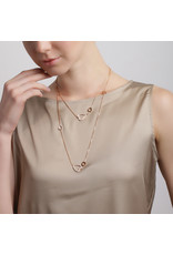 Calliope Long Necklace with Diamond Hearts in Rose Gold