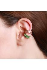 Shanhan Chevron Ear Cuff In Bonsai