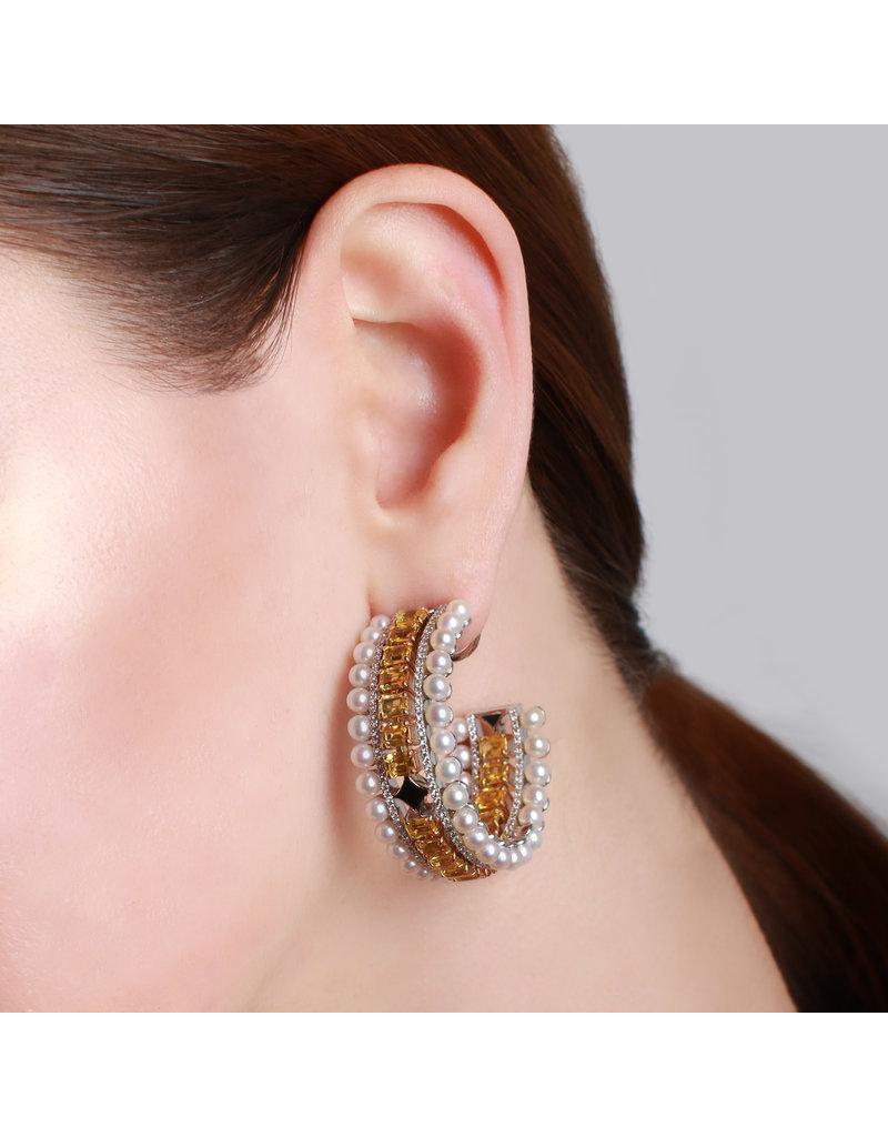 Calliope Maze Ear Hoop in Yellow Gold