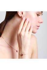 Calliope Harlequin Star Motif Necklace in Scarlet