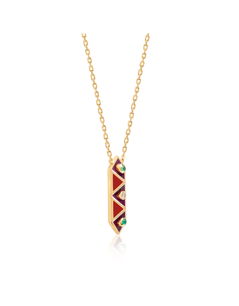 Calliope Harlequin Star Necklace in Scarlet (Limited Edition)