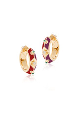 Calliope Harlequin Star Hoop Earrings in Scarlet (Limited Edition)