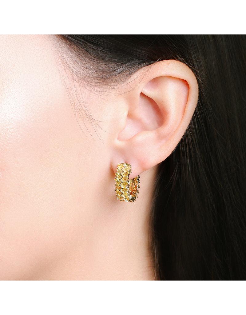 Shanhan Chevron Mini Hoop Earrings in Narcissus