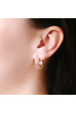 Shanhan Chevron Mini Hoop Earrings in Cherry Blossom