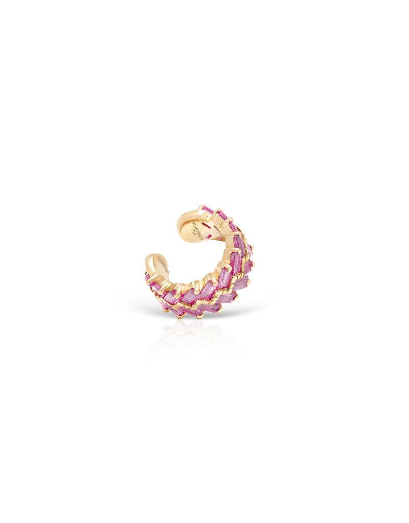 Shanhan Chevron Ear Cuff In Cherry Blossom