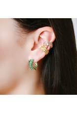 Shanhan Chevron Mini Hoop Earrings in Bonsai
